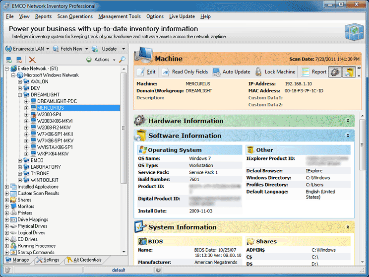 Windows 7 Network Inventory Professional 5.8.22 full